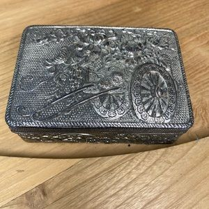 Antique or Vintage Silver Plated Trinket box